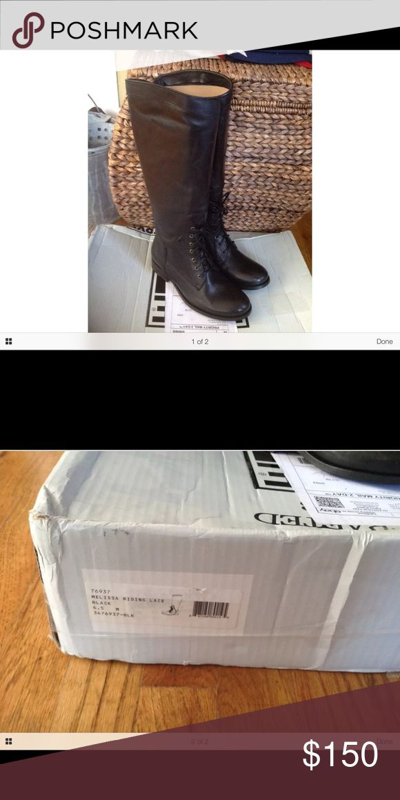 Frye Melissa Riding Lace Boot, size 6.5 New boots, still on the Frye website, original price is $448.  The box is damaged, but the boots are perfect! Frye Shoes Lace Up Boots