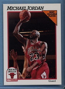 Michael Jordan 1991 NBA Hoops Most Valuable Player Card ...
