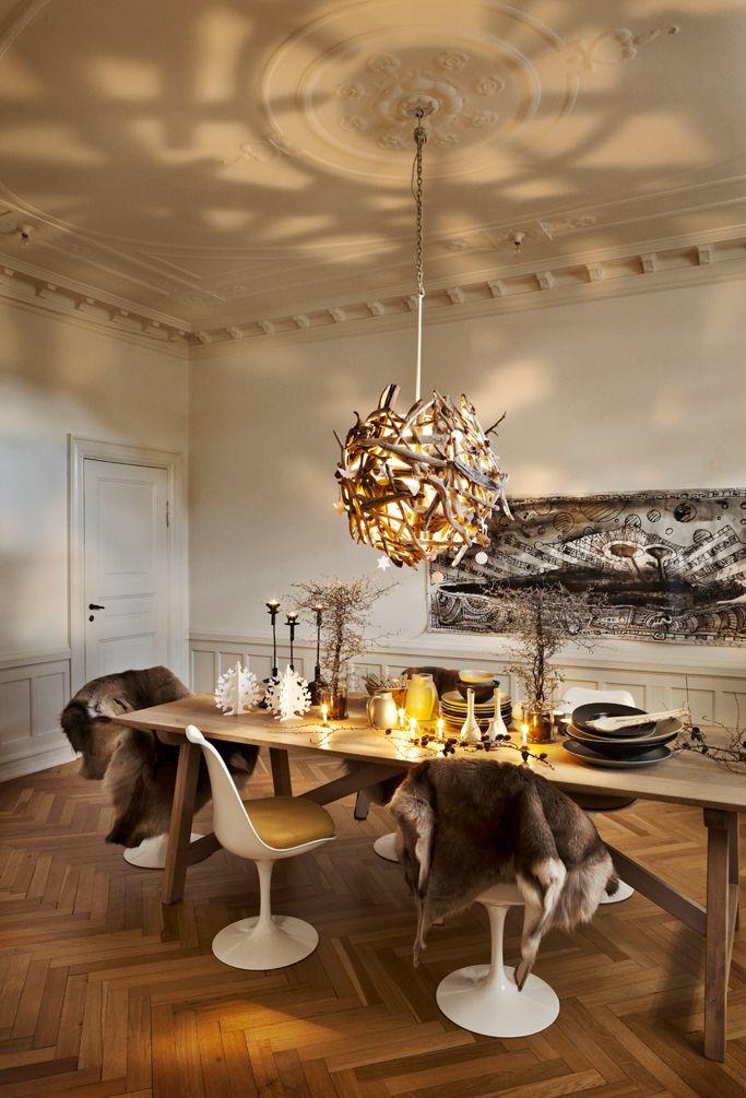 Une table de Noël brute et rustique - PLANETE DECO a homes world