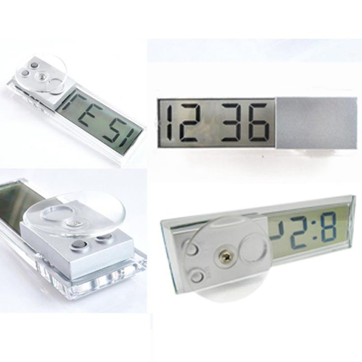 New Car Electronic Clock Liquid Crystal Display LCD Car Timer Digital Clock with suction cup hot selling