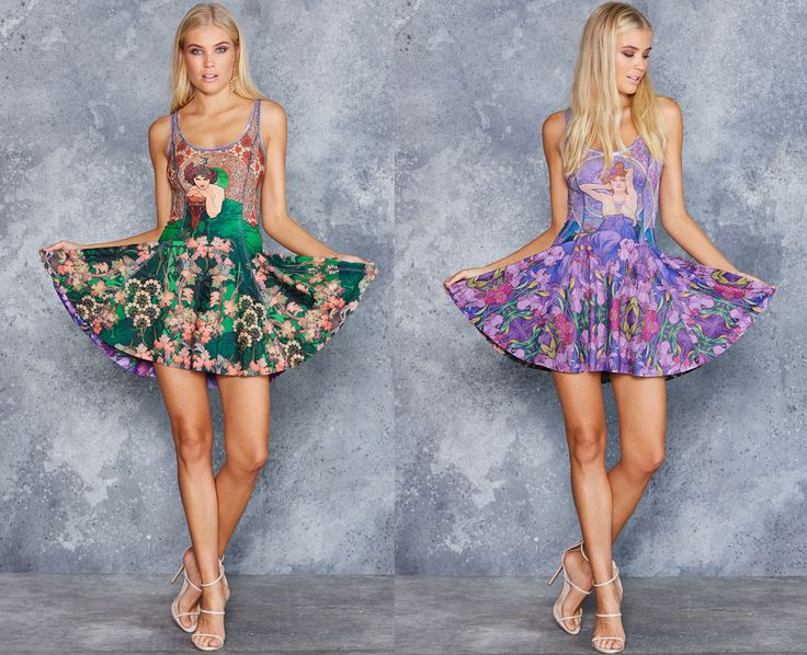 Mucha Amethyst vs Mucha Emerald Inside Out Dress - LIMITED ($170AUD) by BlackMilk Clothing
