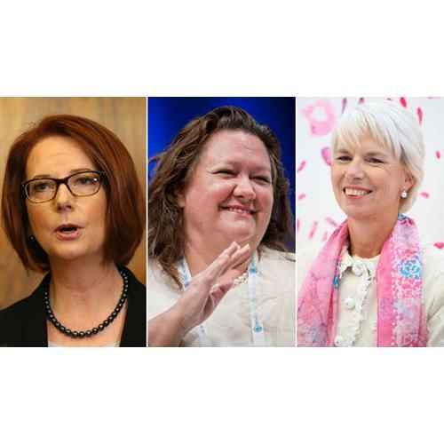 Forbes magazine has revealed its list of the world's most powerful women and it includes three Australians - mining magnate Gina Rinehart, Prime Minister Julia Gillard, and Westpac boss Gail Kelly.