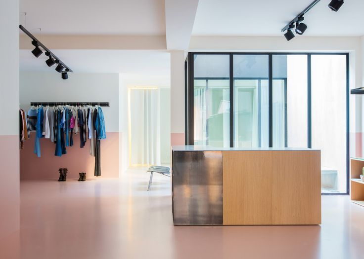 Colours And Materials Are Used To Mark The Different Zones Of This Fashion Boutique In Antwerp