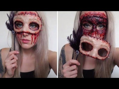 Masquerade Flesh Mask Tutorial ♡ Extremely Gory & Easy For Halloween - YouTube