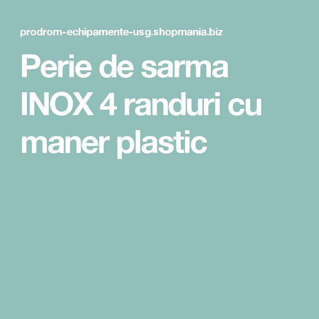 Perie de sarma INOX 4 randuri cu maner plastic