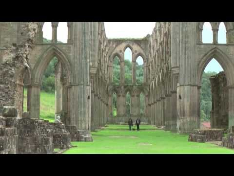 Rievaulx Abbey in North York Moors National Park a Cistercian abbey dates back 900 years. The abbey was disolved by King Henry VIII and partially dismantled, but many of the walls and arches are in great shape.