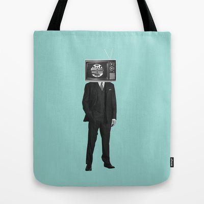 No signal Tote Bag by Klaff Design - $22.00