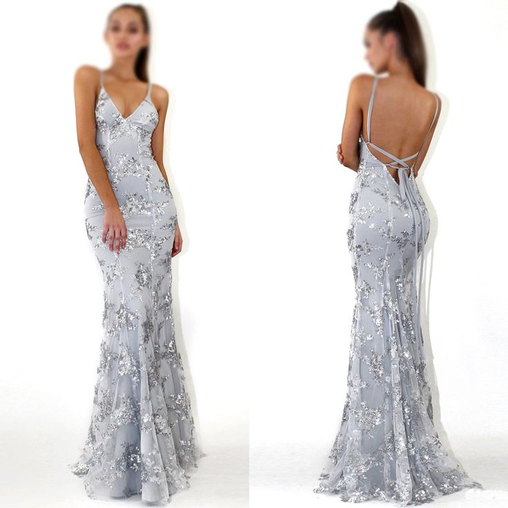 2018 Charming Sequin Silver Sparkly Mermaid Popular Newest Prom Dresses, Fashion Gown, Evening Dresses, PD0305