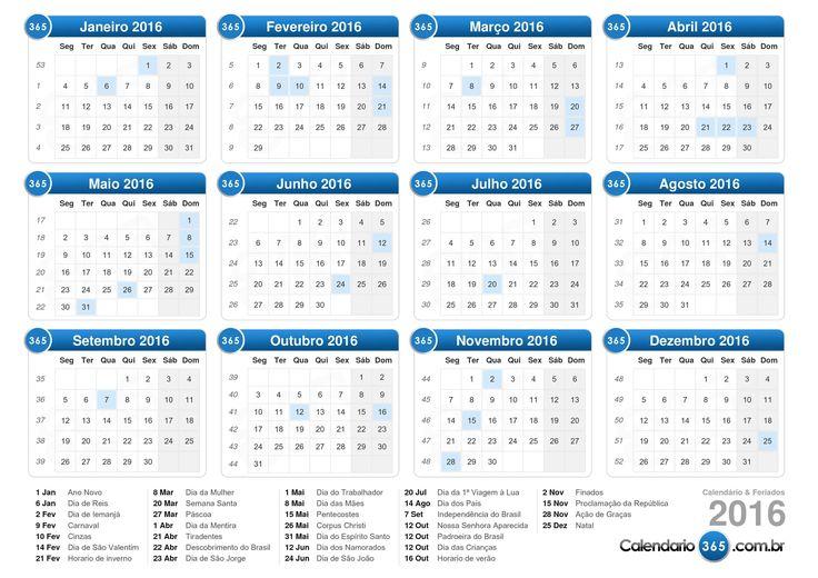 Calendário 2016                                                       …