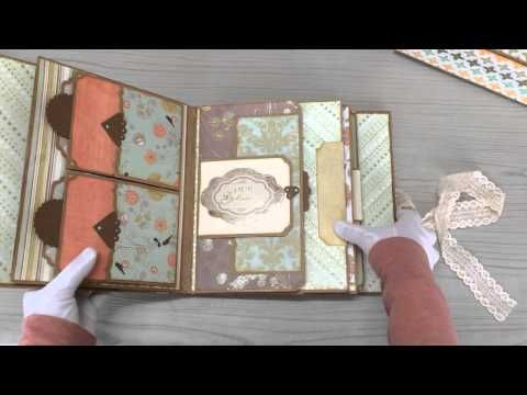 Easy mini album insert with multiple pockets & tags - Tutorial - YouTube