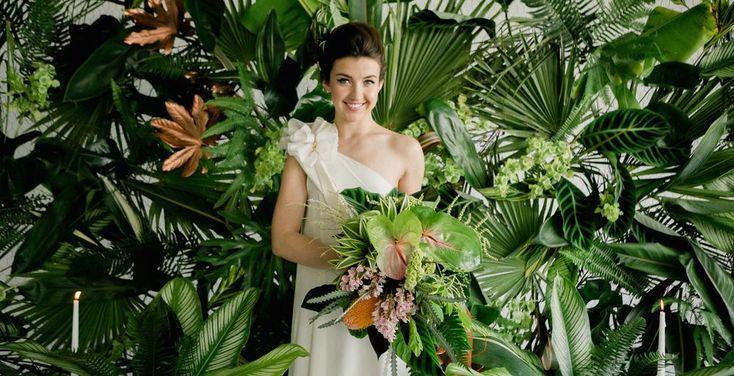 Mariage à thème tropical ! J'adore ! Tellement tendance en 2018 !