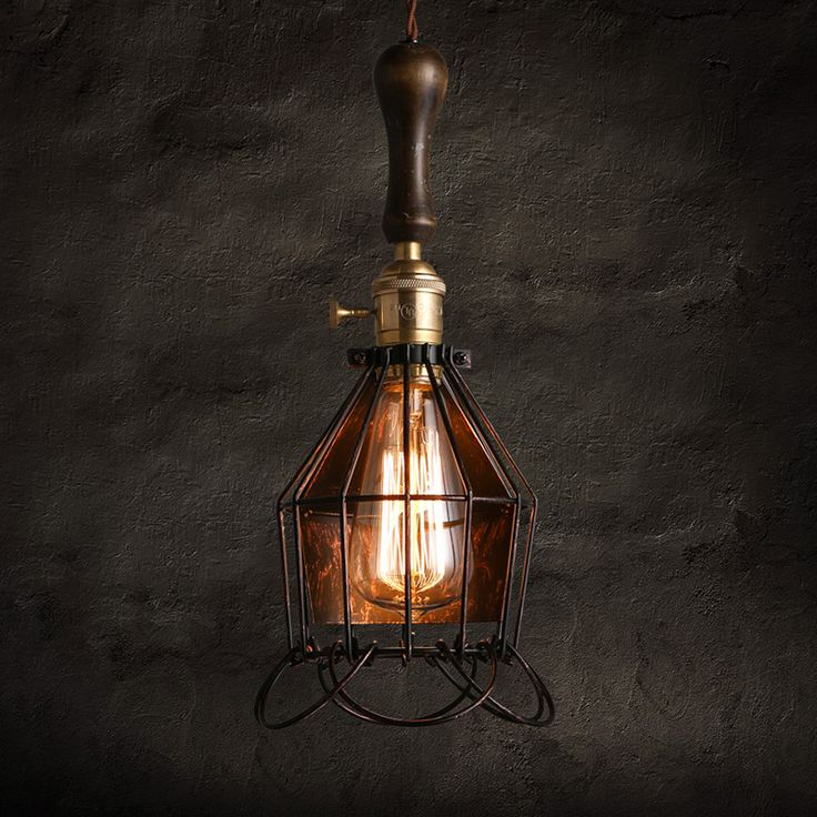 ==> [Free Shipping] Buy Best Warehouse Retro Small Hob pendant lights American Cafe Restaurant Cage Bar Lamp Single Head black pendant Lamp Online with LOWEST Price | 32776500689