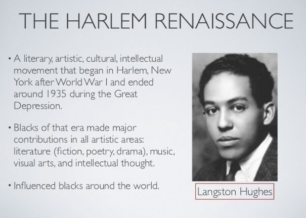 70 slide slide-show about the Harlem Renaissance. Pinterest : @uniquenaja†