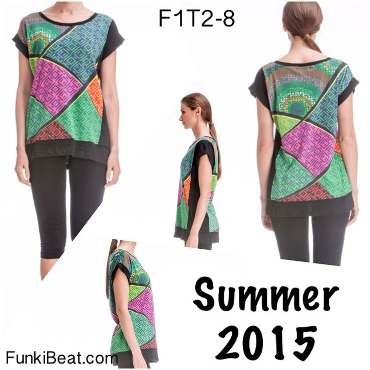 If you LOVE Short Sleeve Top: Multi Diamonds head to http://goo.gl/BBUfTx :)
