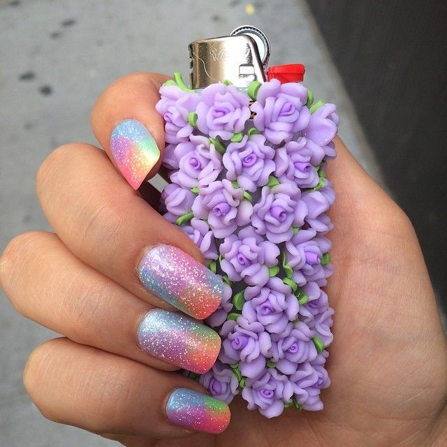 Not sure which I like more her nails or the lighter