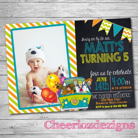 110 best scooby doo party images on pinterest | scooby doo, Birthday invitations