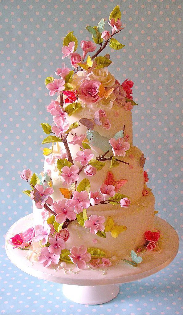 Summer blossom wedding cake | Flickr - Photo Sharing!