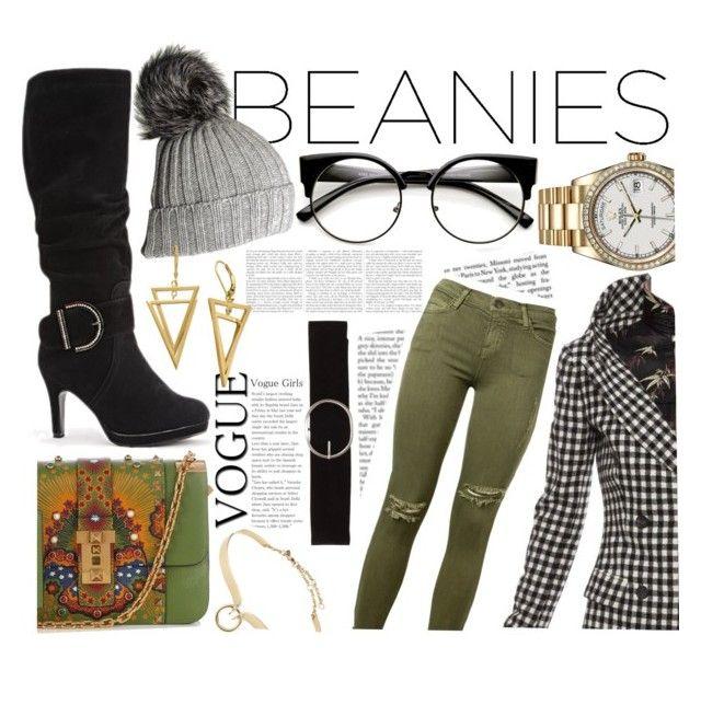 """Beanie Baby"" by kxthxrxnxx ❤ liked on Polyvore featuring Jean-Paul Gaultier, Alexis Bittar, Current/Elliott, Valentino, Black, Rolex and Vero Moda"