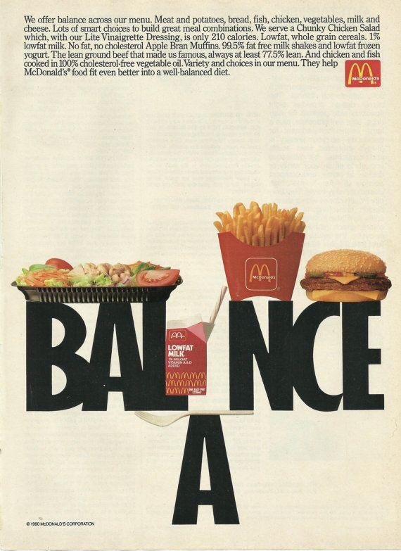 McDonald's Fast Food Restaurant Original 1991 by VintageAdarama, $9.99