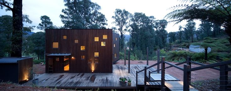 Designed following a series of local forest fires, this home encompasses resilience