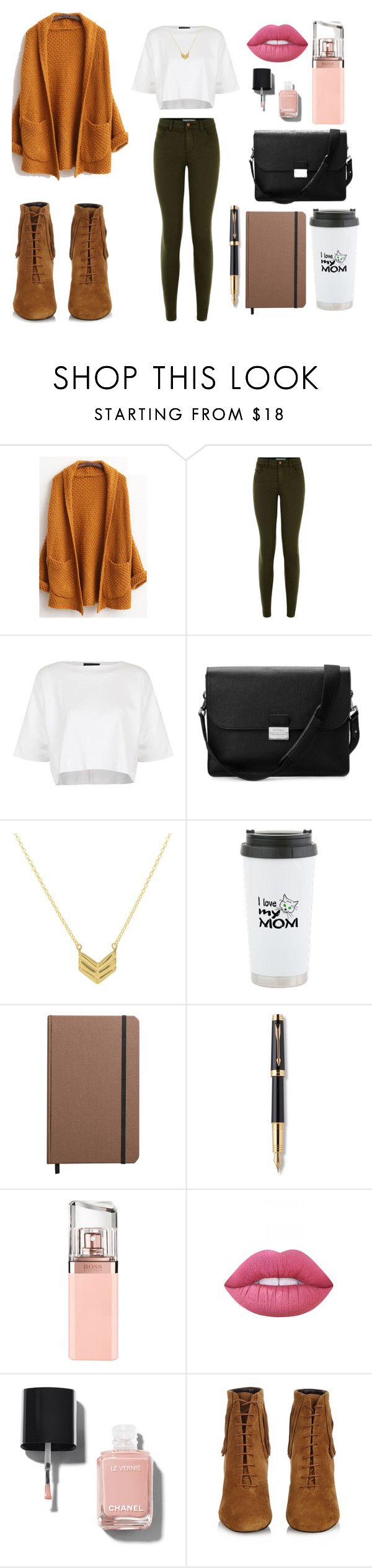 """""""vintage"""" by larrytale on Polyvore featuring мода, New Look, Topshop, Aspinal of London, Shinola, Parker, HUGO, Lime Crime, Chanel и Yves Saint Laurent"""