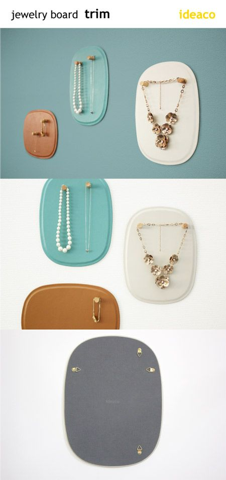 Decorate your wall with your favorite accessories like necklaces and rings using this leather magnet board.