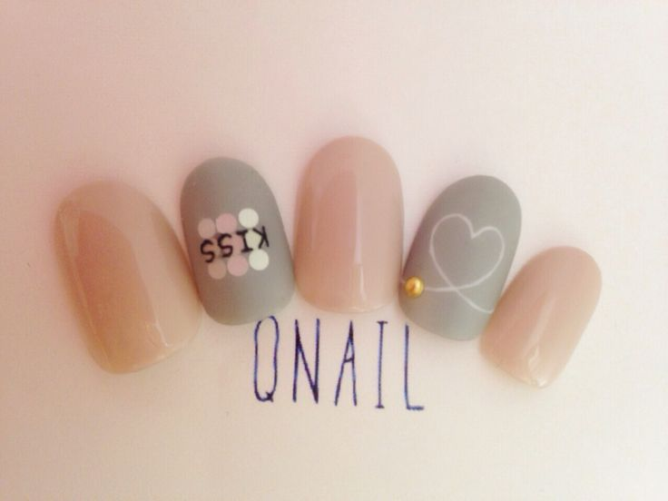 Neutral love nails