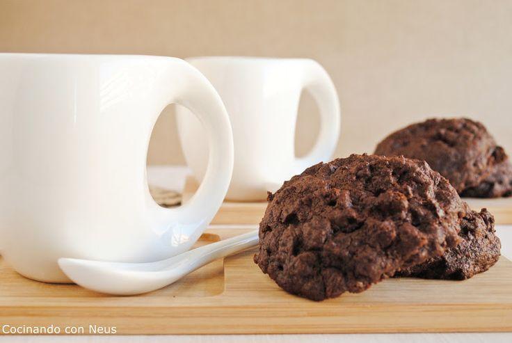 Cocinando con Neus: Galletas de chocolate con pepitas de chocolate de ...