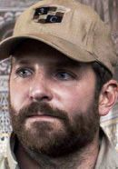 Bradley Cooper as Navy SEAL sniper Chris Kyle in the American Sniper movie. Read 'American Sniper: History vs. Hollywood' - http://www.historyvshollywood.com/reelfaces/american-sniper/