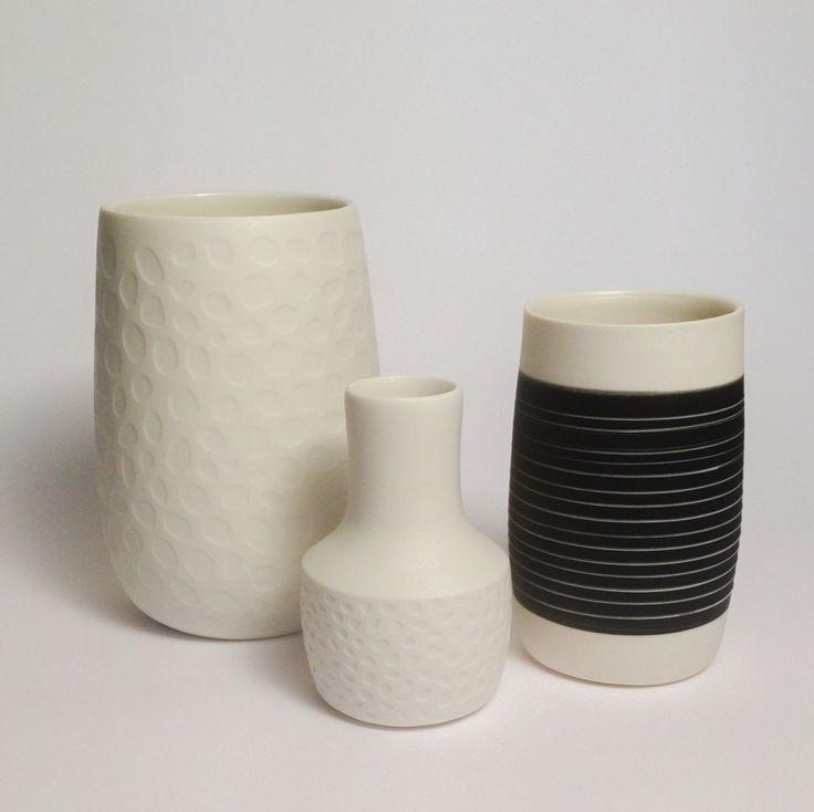 Handmade porcelain vases