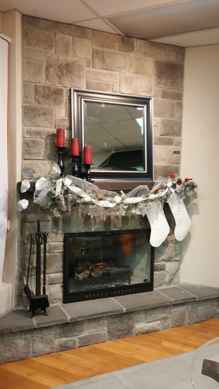 12 best Stone Fireplace Holiday Decorations images on Pinterest ...
