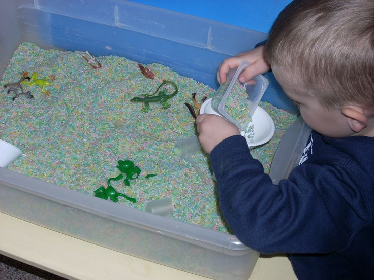 DIY colored rice - sensory play