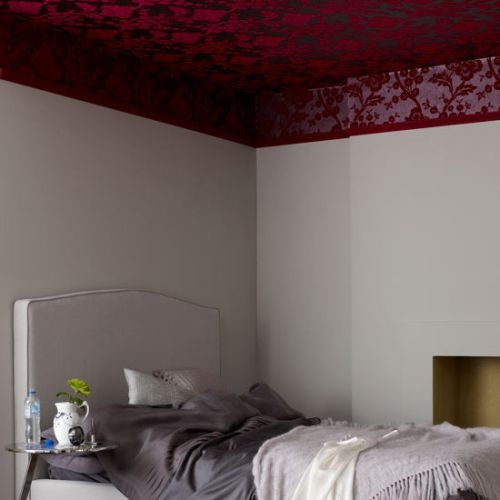 Wallpaper on the ceiling ceiling walls wallpaper bedroom