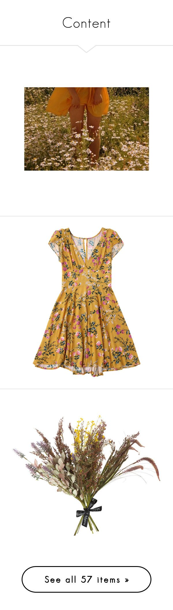 """""""Content"""" by lenajfam ❤ liked on Polyvore featuring Summer, happy, orange, pictures, dresses, brown cocktail dress, plunging-neckline dresses, floral pattern dress, floral print dress and print dress"""