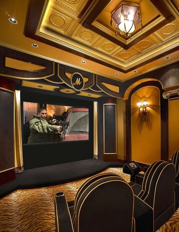 17 best images about home movie theater on pinterest for Luxury home theater rooms
