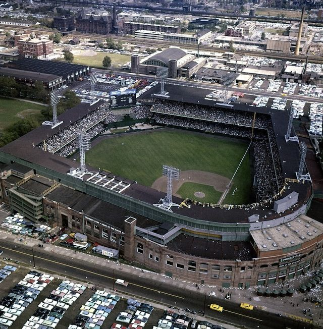 Old Comiskey Park : Former home of the Chicago White Sox. Was here for Jehovah's Witnesses Convention.