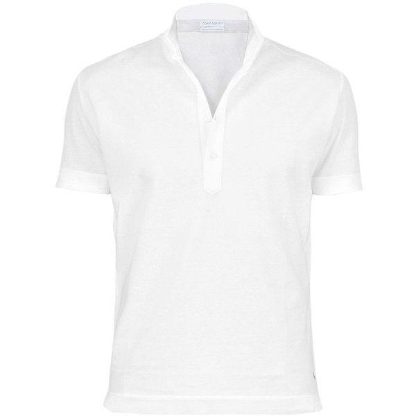 Coast Society - Scott White Polo Shirt ($225) ❤ liked on Polyvore featuring men's fashion, men's clothing, men's shirts, men's polos, mens summer shirts, mens collared shirt, mens polo collar shirts, mens white shirts and mens holiday shirts