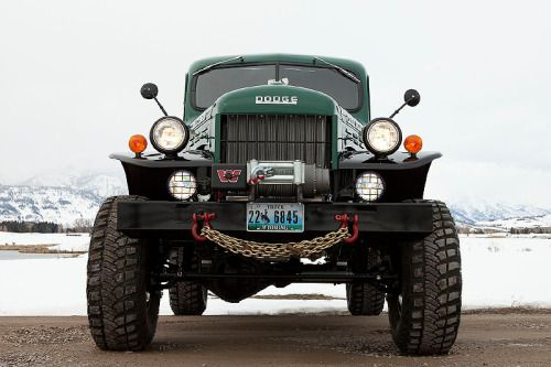 "wood-is-good: "" Dodge Power Wagon handcrafted by artisan auto mechanics at Legacy Classic Trucks in Jackson Hole, Wyoming """