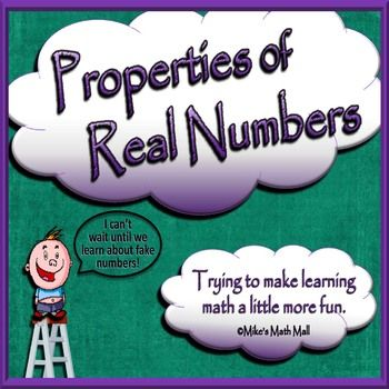 Keep your students awake with this concise, 14-slide PowerPoint presentation on the properties of real numbers. The presentation includes definitions and examples of the following:-Commutative Properties-Associative Properties-Distributive Properties-Identity Properties-and Inverse PropertiesThe presentation addresses CCSS.Included in this Properties of Real Numbers' unit:-14-slide PowerPoint-Review notes printable-Differentiated worksheets for your various levels of learners*Practice A…
