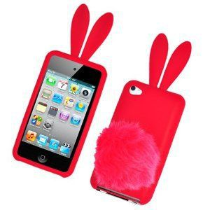 justice ipod cases for girls | Amazon.com: Bunny Skin Case With Furry Tail for Apple iPod Touch 4th ...
