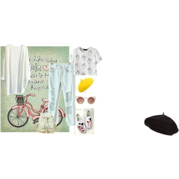 Ready for cycling by letsplaydiy on Polyvore featuring HVBAO, Harrods and Mademoiselle Slassi