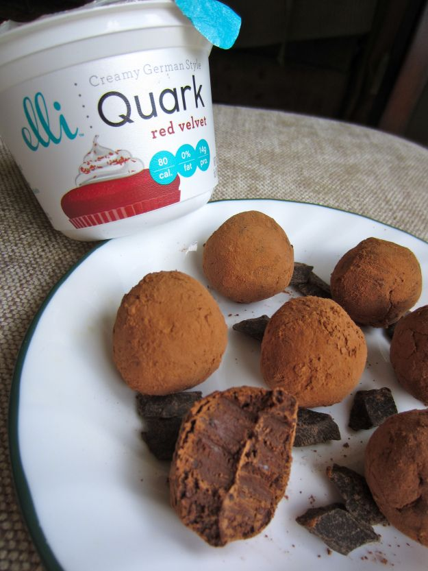 Elli Quark Red Velvet Truffles I gotta get my hands on this Elli Quark stuff!