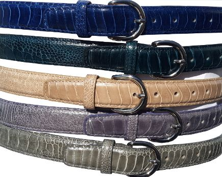 Selection of Ostrich Shin belts