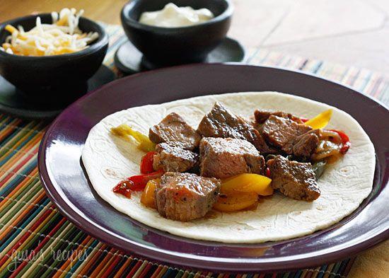 Grilled Steak FajitasEasy Steak, Grilled Steaks, Point Weightwatchers ...