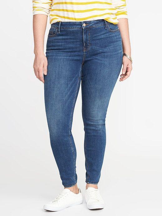 Smooth & Slim Plus-Size Mid-Rise Rockstar Jeans