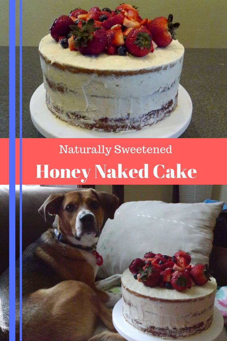 pin for naturally sweetened honey naked cake