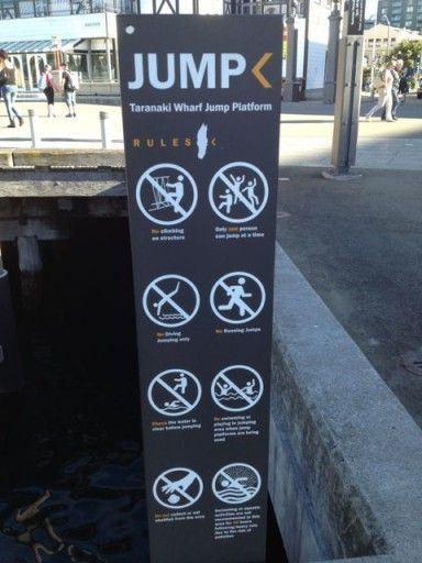 "The ""jump"" rules  at the Taranaki Wharf Jump Platform – Mountain Dew Guy Made Me Do It"