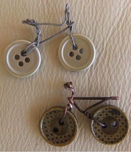 cositasconmesh: bicicletas realizadas con botones