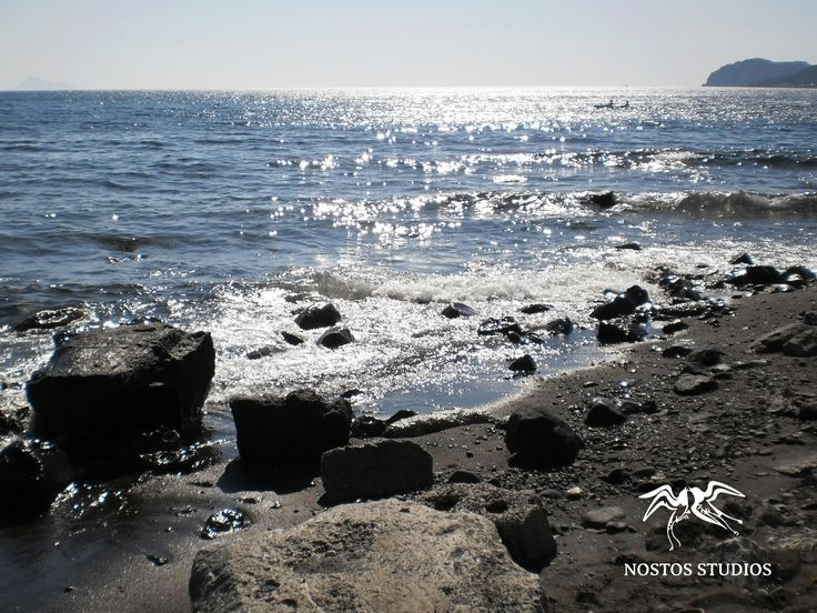 Black Sand beach by #NostosStudios #Santorini
