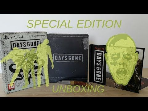 DAYS GONE (unboxing) special edition PS4 - YouTube
